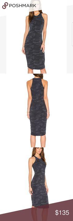 "NWT Monrow sporty Camo tank dress Sz S New Monrow Sporty Camo tank dress size Small in Vintage Black 90% COTTON,  10% Spandex  LENGTH: 41"" Color is ""Vintage black"" - actually looks gray Monrow Dresses"