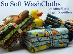 soft washcloths tutorial by AnneMarie of gen X quilters. found on the Moda Bake Shop. Kids would love this! I love this.
