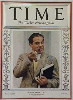 Frank Capra, director 1920s - 1950s, Arsenic and Old Lace, It's a Wonderful Life, Mr. Smith Goes to Washington, etc.