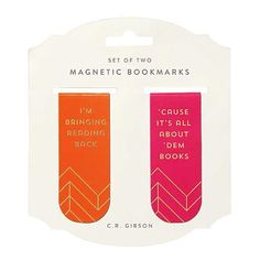 MAGNETIC BOOKMARKS - ALL ABOUT DEM BOOKS