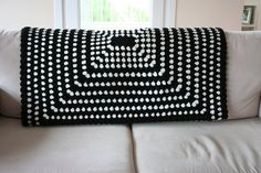 Black And Ivory Afghan ThrowBlanket by allapples on Etsy, $135.00