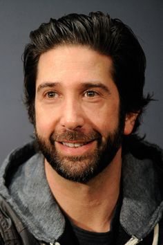 even more beautiful with a beard. Joey Friends, Friends Tv Show, Worst Celebrities, Celebs, Beard Pictures, David Schwimmer, Ross Geller, Writing Characters, Film Strip