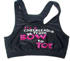 I'm A Cheerleader from Bow to Toe Cheer Sports Bra from Justcheerbows on Etsy. Shop more products from Justcheerbows on Etsy on Wanelo. Cheer Sports Bras, Cheer Coaches, Cheer Mom, Cheer Stuff, Cheer Quotes, Cheer Outfits, Dinners For Kids, Sport Wear, Sport Fashion