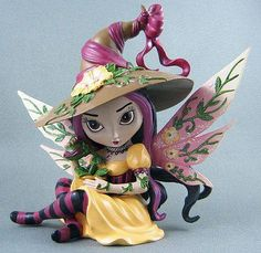 Magic Wish Fairy Witch Figurine Jasmine Becket-Griffith in Collectibles, Fantasy, Mythical & Magic, Fairies Dragon Figurines, Fairy Figurines, Baby Fairy, Love Fairy, Mythical Dragons, Fairy Wallpaper, Fairy Pictures, Witch Art, Beautiful Fairies