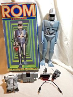 Vintage 1979 Parker Brothers ROM The Space Knight Robot  Complete w/Box Works #ParkerBrothers