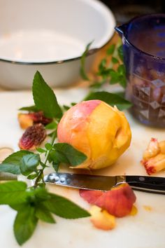 Peach Mint Preserves