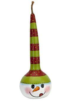 Snowman Gourd project from DecoArt