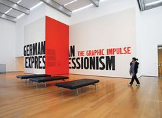 """German Expressionism"" exhibition graphics by MoMA Design Studo"