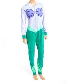 Loving this Lavender & Aqua Ariel Jumpsuit - Juniors on #zulily! #zulilyfinds