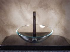 Glass Vessel Sinks, Clear Glass, Bathroom, Smooth, Home Decor, Simple, Products, Washroom, Decoration Home
