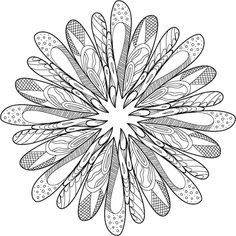 This mandala reminds me of zentangles and doodles. An art teacher once had my class draw a bunch of scribbles, circles, and lines on a sheet of drawing paper. Then in each space that was created, we had to draw a different pattern. The patterns couldn't repeat themselves. Now, it's something I doodle when I'm on the phone.