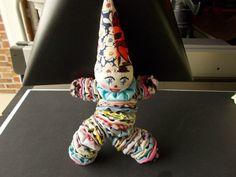 CUTE! Yo Yo Clown Doll | Honeycomb Stitch, Sewing Toys, Caterpillar, Doll Clothes, Sewing Patterns, Owl, Stuffed Toys, Clowns, Handmade Gifts