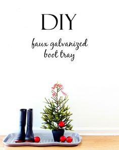 DIY Faux Galvanized