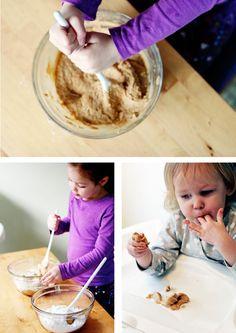 Edible playdough!  Safe for lil ones (just make sure no peanut allergy!!!)  PEANUT BUTTER PLAYDOUGH!!!!!
