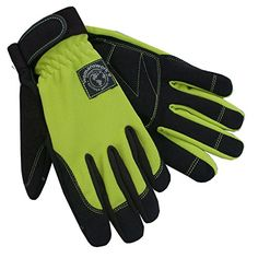 Womanswork Stretch Gardening Glove with Micro Suede Palm Lime Green Large -- More info could be found at the image url.