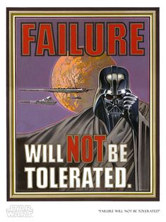 """Failure Will Not Be Tolerated"" by Lawrence Noble - sold out edition - featured on The Big Bang Theory"