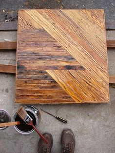 Ok, not furniture, but this wood be very cool hanging in a hallway or greatroom!