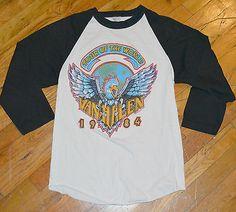 RaRe *1984 VAN HALEN* vtg rock concert tour jersey shirt (M) 80s David Lee Roth John Lennon Yoko Ono, Vintage Concert T Shirts, David Lee Roth, Vintage Rock, Rock Concert, Walk This Way, Van Halen, Tour T Shirts, Jersey Shirt