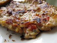 : Easy Breakfast Sausage, adapted from a Bobby Flay recipe. I use ground chicken, though you can certainly try ground pork or turkey