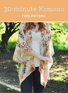 Free 30 minute kimono tutorial. This is an inexpensive way to give a gift to someone you love.