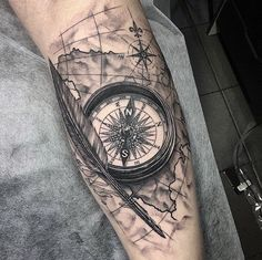 Tags: antique tattoos arrow tattoo designs clock tattoo compass designs compass tattoo compass tattoo ideas compass tattoo ideas for men compass tattoo Map Tattoos, Arrow Tattoos, Rose Tattoos, Body Art Tattoos, Sleeve Tattoos, Tatoos, Heart Tattoos, Skull Tattoos, Girl Tattoos