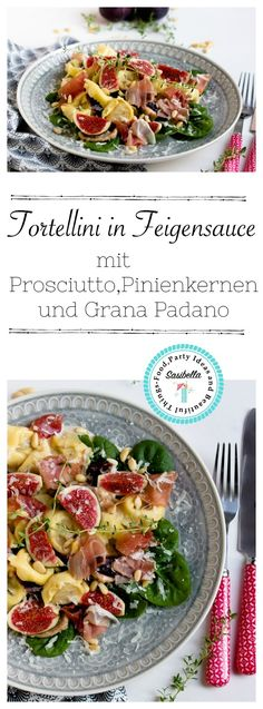 Tortellini in Feigensauce mit Prosciutto,Grana Padano und Pinienkernen Healthy Meals For Two, Quick Easy Meals, Easy Dinner Recipes, Healthy Recipes, Tortellini, Prosciutto, Individual Chicken Pot Pies, Sports Food, Bacon Pasta