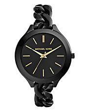 Fine montre noire Runway Michael Kors