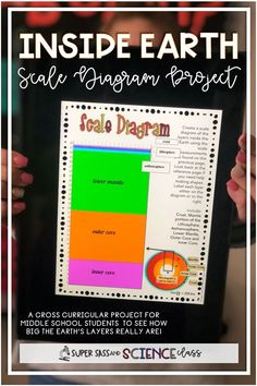 "This awesome layers of the Earth scale diagram project answers the question asked by every middle school student. ""How far down is the center of the Earth?"" This project is awesome for print or to use on a Chromebook!"