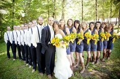 yellow, green and navy themed wedding