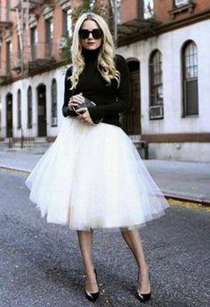 Юбка из фитина, при грамотном комбинировании смотрится очень элегантно Serendipity Tulle Skirt