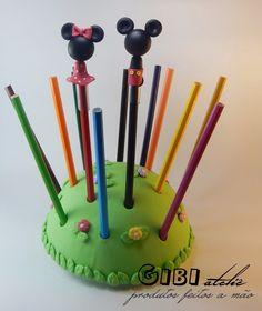Ponteiras Para Lápis Mickey E Minnie Biscuit - Gibi Ateliê - R$ 1,25 no MercadoLivre