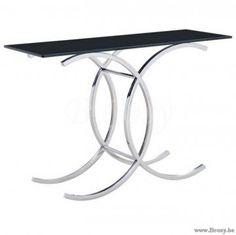 "PR Interiors Black console-wandtafel in inox en zwart glas 120<span style=""font-size: 0.01pt;""> PR-Rogiers-Home-Interiors-CKU/009 console-wandtafel-table-de-drapier-table-murale-tables-de-drapier-tables-murales-wandtafel-wandtafels- </span>"
