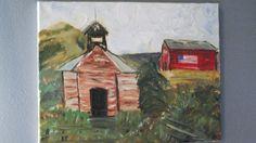 Rural America, 11x14 in, oil on canvas, by Leona Bushman