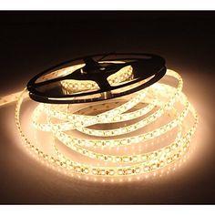 LEDMO® SMD2835 600LEDs Warm White Led Strip, Non-waterproof Warm White 3000K, 16.4Ft DC12V, 15Lm/LED, 3 times brightness than SMD 3528 LED Light Strip, LED Ribbon, LED Strip Light