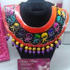 Collar Vitral con piedras de Murano, Cristal  entre otras de excelente calidad! Instagram @inspiracionkeav