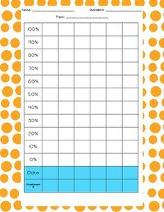 Could use for whole class bar graph data! Student Data Folders, Student Data Tracking, Data Binders, Data Notebooks, Goal Tracking, Ec School, School Tool, School Fun, School Stuff