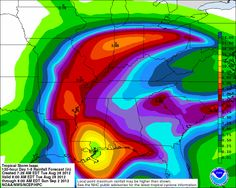 Predicted rainfall Tuesday, August 28th