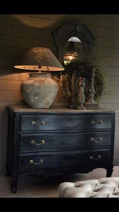 Inspirasjon til kommode - kjøkken - Pascale GG - Bild Pisns - . Room Decor, Decor, House Interior, Decor Inspiration, Rustic Interiors, Furniture Makeover, Painted Furniture, Rustic Decor, Home Decor