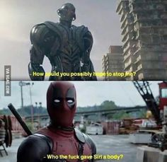 Deadpool joins the Avengers. That movie would've ended in 5 mins if the two fought. Deadpool Funny, Funny Marvel Memes, Marvel Jokes, Dc Memes, Avengers Memes, Funny Comics, Funny Memes, Deadpool Stuff, Deadpool And Spiderman