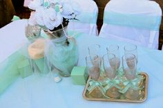 Party Tiffany Blue Party, Table Decorations, Wedding, Home Decor, Valentines Day Weddings, Decoration Home, Room Decor, Weddings, Home Interior Design