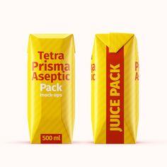 Tetra Pak. Prisma Pack (500 ml) Mockup Set Color Photoshop, Tetra Pak, Baileys, Light Colors, Mockup, Color Change, Presentation, Milk, Packing