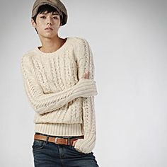 deepstyle  Cable Knit Top