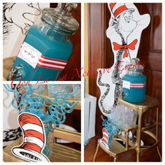 Drink station at a Dr. Seuss Party #drseuss #partydrinks
