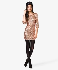 V-Back Sequined Dress | FOREVER 21 New Year's Eve Party dress!