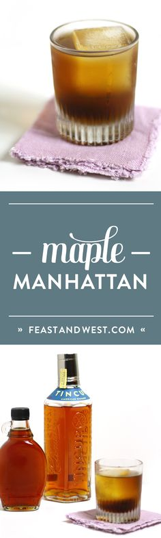 A round of Maple Manhattans, please! Here, rye whiskey teams up with dry vermouth and sugary maple syrup to bring you this strong yet slightly sweet version of the classic whiskey cocktail. Perfect for Thanksgiving or Christmas or just a cold winter's night! (via feastandwest.com)