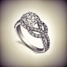 Love Knot Diamond Engagement Ring