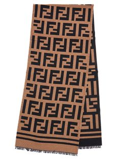 Shop Fendi Scarf In Brown from stores. Scarf From Fendi: Wool All Over Logo Scarf Composition: wo, se Lv Scarf, Fendi Scarf, Blanket Scarf, Fall Scarves, How To Wear Scarves, Lux Fashion, Bridesmaid Shawl, Louis Vuitton Scarf, T Shirt Crop Top