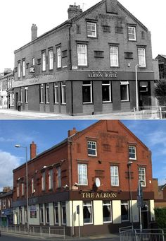 The Albion Pub, Hawthorne Road, Bootle, 1987 and 2017