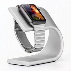 phonewatch Apple Watch Stand Silver Best Apple Watch, Apple Watch Series, Apple Watch Charging Stand, Wearable Technology, Docking Station, Tech Gadgets, Cell Phone Accessories, Platform, Models