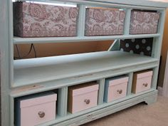 Re-Create with L.Lane Designs: Curb side junk turns entertainment center!